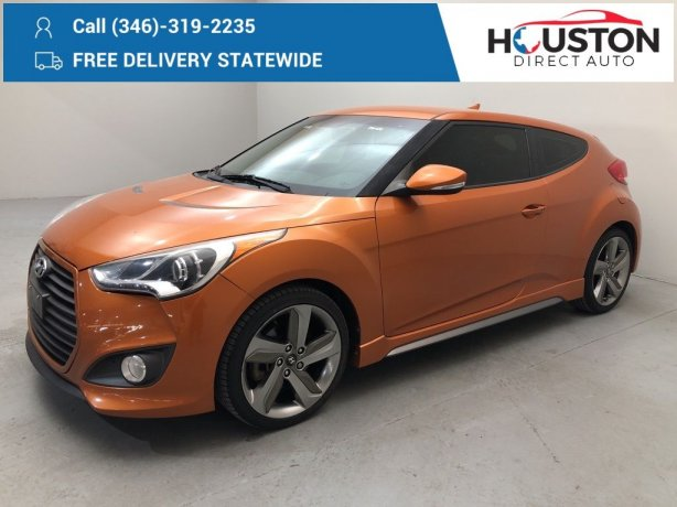 Used 2013 Hyundai Veloster for sale in Houston TX.  We Finance!