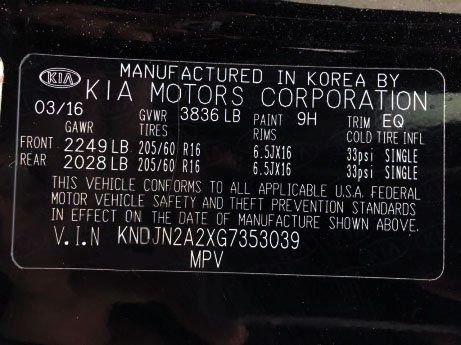 Kia 2016 for sale near me