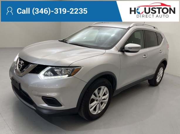 Used 2016 Nissan Rogue for sale in Houston TX.  We Finance!