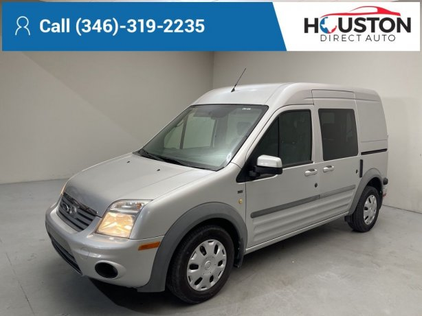 Used 2012 Ford Transit Connect for sale in Houston TX.  We Finance!