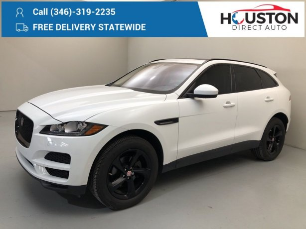 Used 2018 Jaguar F-PACE for sale in Houston TX.  We Finance!