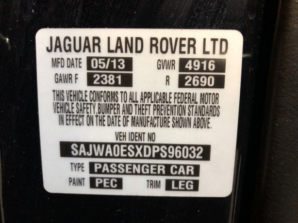 Jaguar 2013 for sale near me