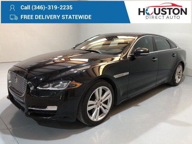 Used 2017 Jaguar XJ for sale in Houston TX.  We Finance!