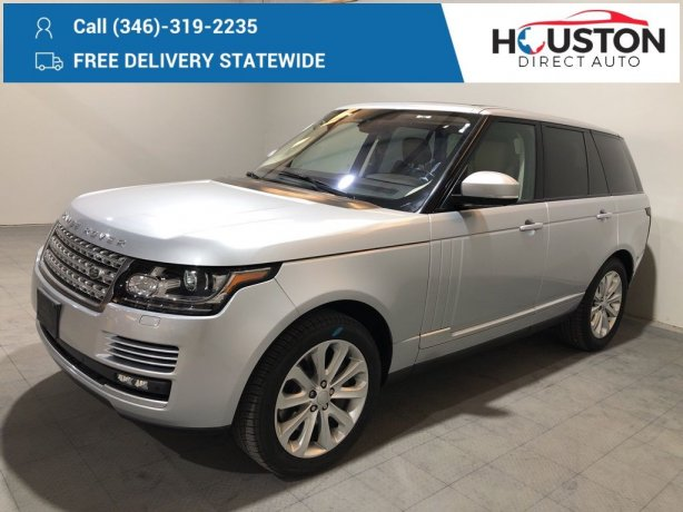 Used 2016 Land Rover Range Rover for sale in Houston TX.  We Finance!