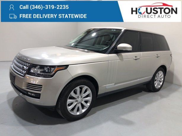 Used 2015 Land Rover Range Rover for sale in Houston TX.  We Finance!