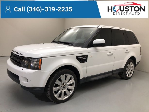 Used 2013 Land Rover Range Rover Sport for sale in Houston TX.  We Finance!