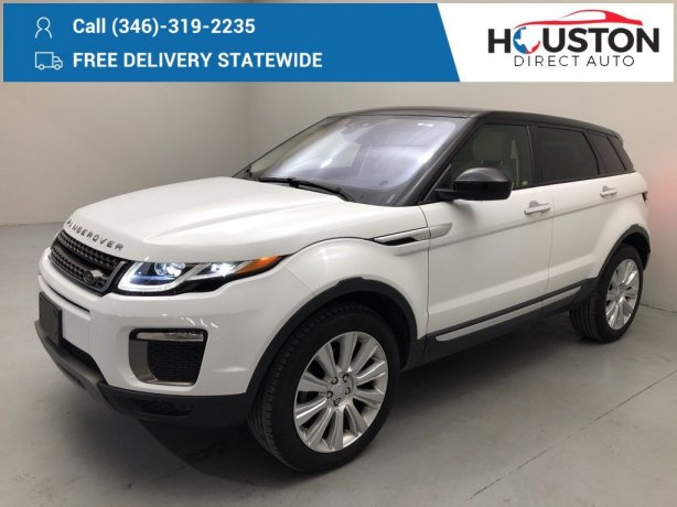 Used 2016 Land Rover Range Rover Evoque for sale in Houston TX.  We Finance!