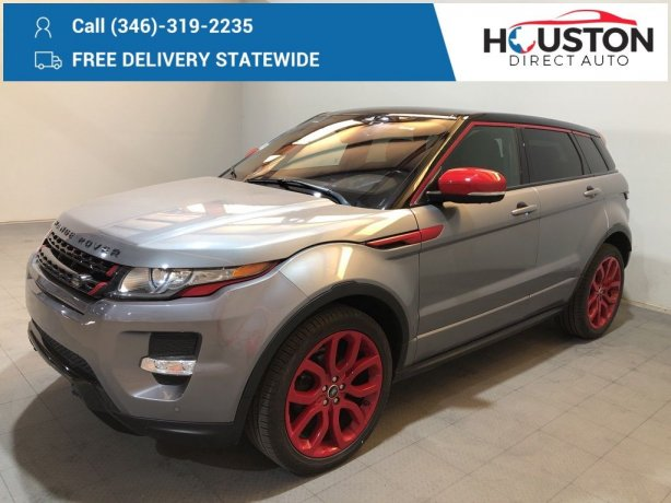 Used 2013 Land Rover Range Rover Evoque for sale in Houston TX.  We Finance!