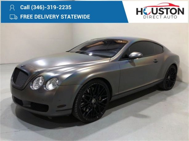 Used 2005 Bentley Continental GT for sale in Houston TX.  We Finance!
