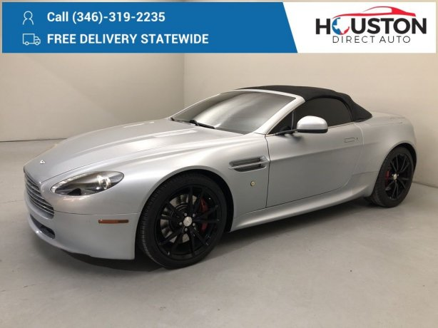 Used 2010 Aston Martin V8 Vantage for sale in Houston TX.  We Finance!
