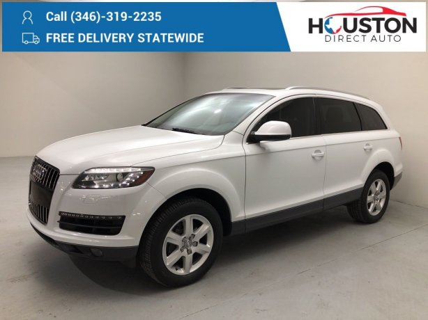 Used 2014 Audi Q7 for sale in Houston TX.  We Finance!