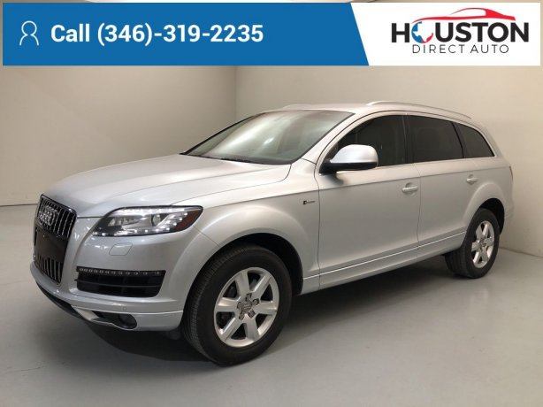 Used 2015 Audi Q7 for sale in Houston TX.  We Finance!