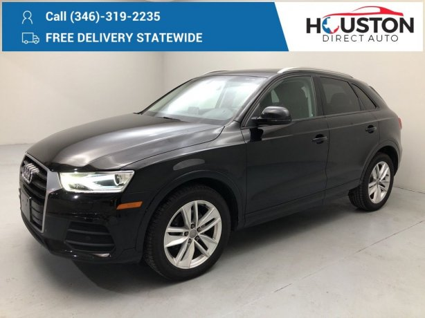 Used 2017 Audi Q3 for sale in Houston TX.  We Finance!