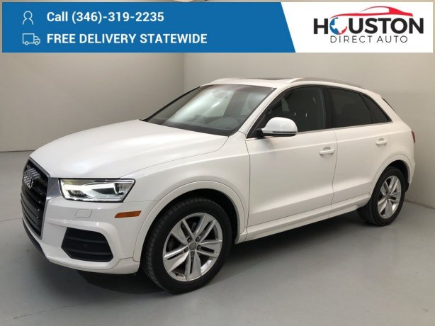 Used 2016 Audi Q3 for sale in Houston TX.  We Finance!
