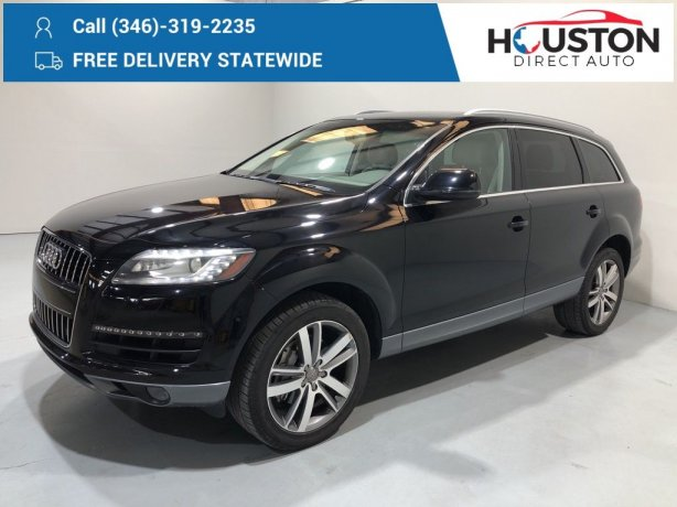 Used 2012 Audi Q7 for sale in Houston TX.  We Finance!