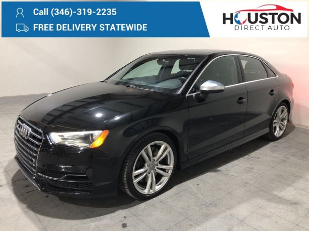 Used 2016 Audi S3 for sale in Houston TX.  We Finance!