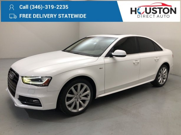 Used 2014 Audi A4 for sale in Houston TX.  We Finance!