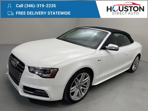 Used 2016 Audi S5 for sale in Houston TX.  We Finance!