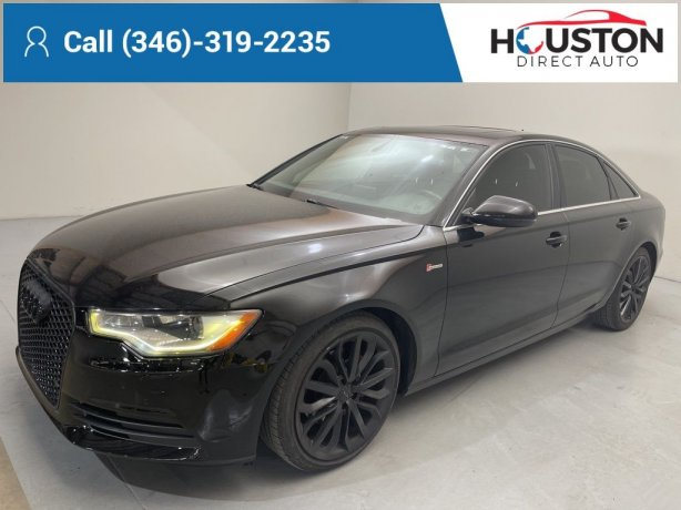 Used 2012 Audi A6 for sale in Houston TX.  We Finance!