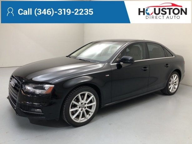 Used 2016 Audi A4 for sale in Houston TX.  We Finance!
