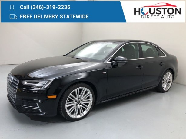 Used 2018 Audi A4 for sale in Houston TX.  We Finance!