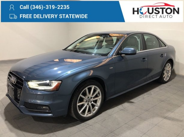 Used 2015 Audi A4 for sale in Houston TX.  We Finance!