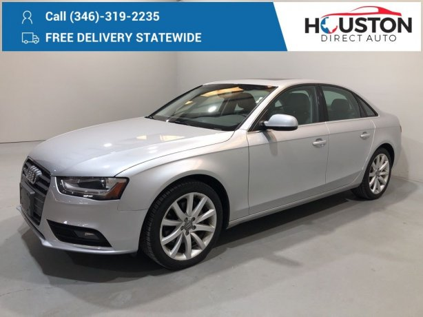 Used 2013 Audi A4 for sale in Houston TX.  We Finance!
