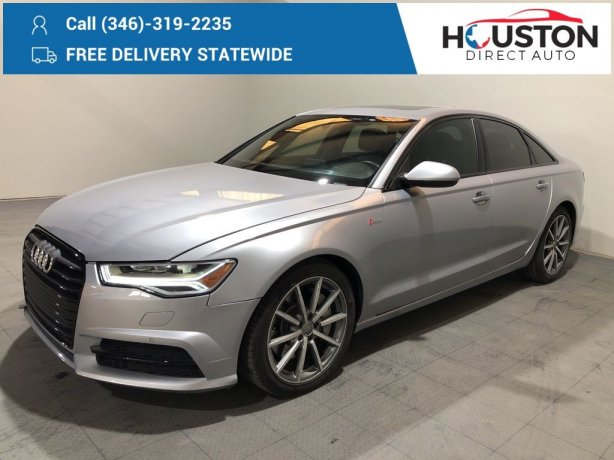 Used 2018 Audi A6 for sale in Houston TX.  We Finance!