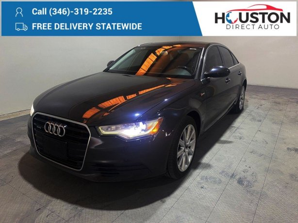 Used 2013 Audi A6 for sale in Houston TX.  We Finance!