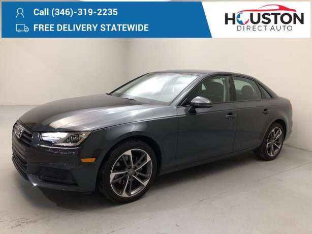 Used 2019 Audi A4 for sale in Houston TX.  We Finance!