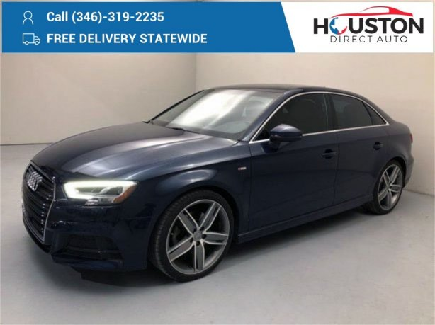 Used 2017 Audi A3 for sale in Houston TX.  We Finance!