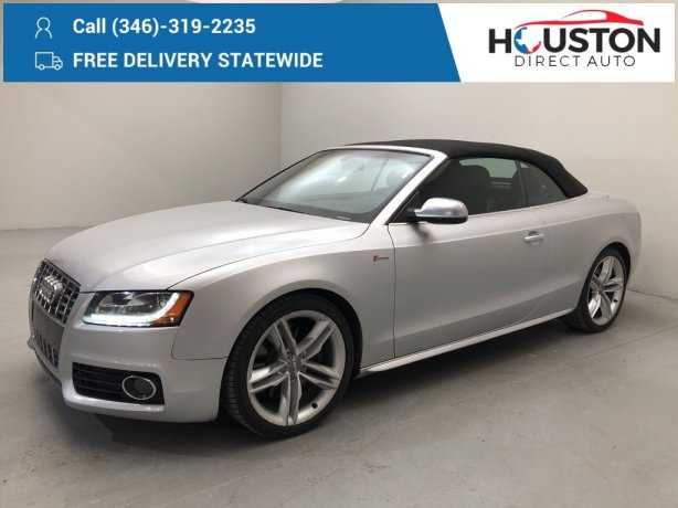 Used 2010 Audi S5 for sale in Houston TX.  We Finance!