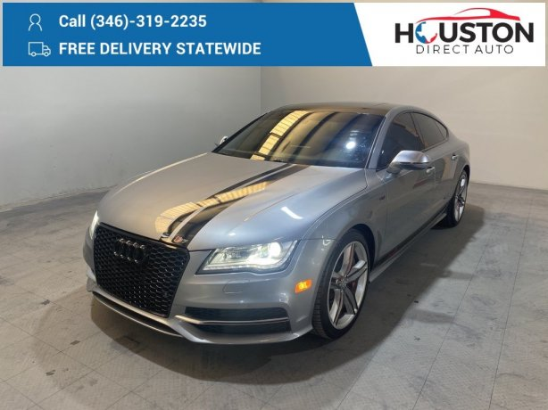 Used 2013 Audi S7 for sale in Houston TX.  We Finance!