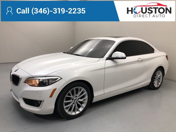 Used 2015 BMW 2 Series for sale in Houston TX.  We Finance!