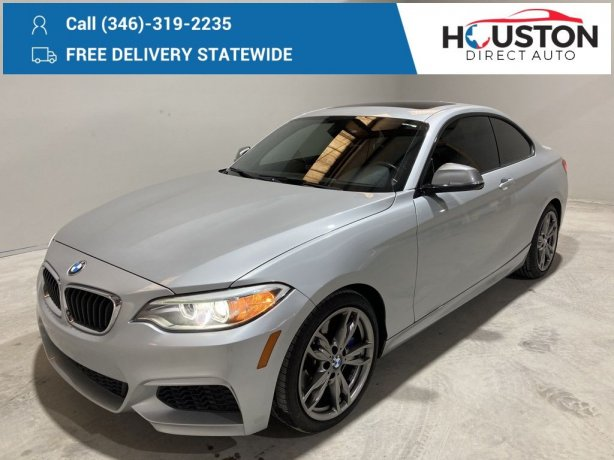 Used 2016 BMW 2 Series for sale in Houston TX.  We Finance!