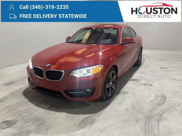 Used 2017 BMW 2 Series for sale in Houston TX.  We Finance!