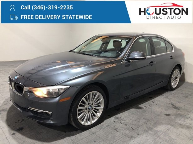Used 2015 BMW 3 Series for sale in Houston TX.  We Finance!
