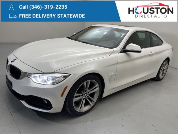 Used 2016 BMW 4 Series for sale in Houston TX.  We Finance!