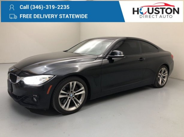 Used 2014 BMW 4 Series for sale in Houston TX.  We Finance!