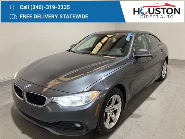 Used 2015 BMW 4 Series for sale in Houston TX.  We Finance!