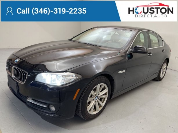 Used 2015 BMW 5 Series for sale in Houston TX.  We Finance!