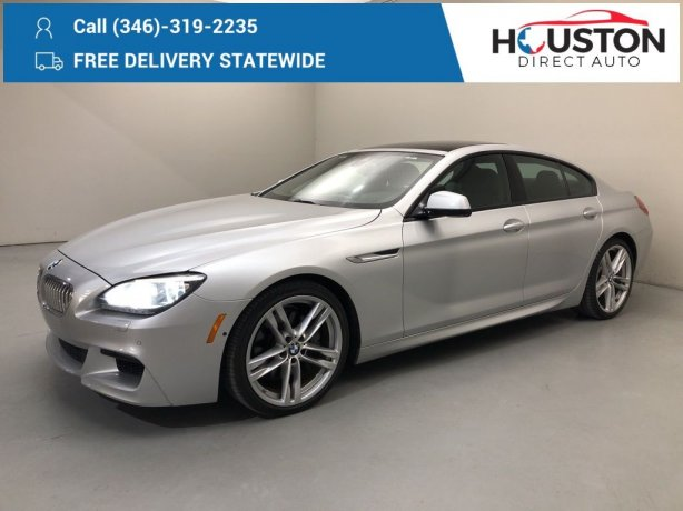 Used 2014 BMW 6 Series for sale in Houston TX.  We Finance!