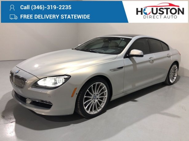 Used 2015 BMW 6 Series for sale in Houston TX.  We Finance!