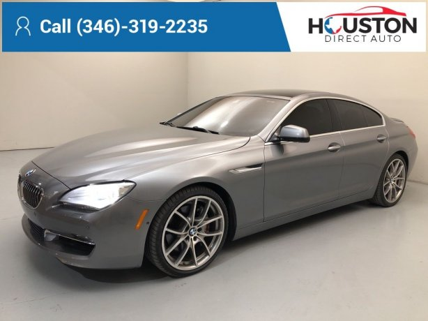 Used 2013 BMW 6 Series for sale in Houston TX.  We Finance!