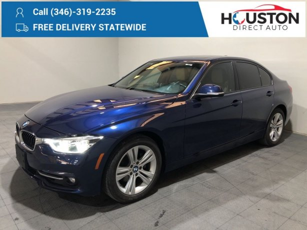 Used 2016 BMW 3 Series for sale in Houston TX.  We Finance!