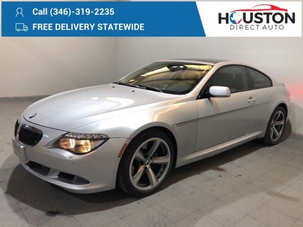 Used 2008 BMW 6 Series for sale in Houston TX.  We Finance!