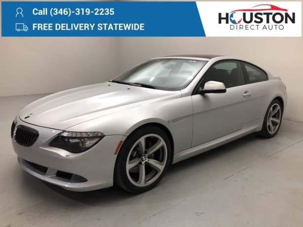 Used 2010 BMW 6 Series for sale in Houston TX.  We Finance!