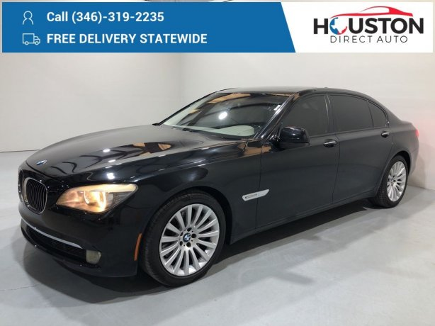 Used 2009 BMW 7 Series for sale in Houston TX.  We Finance!