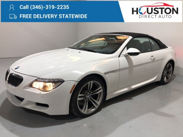 Used 2009 BMW M6 for sale in Houston TX.  We Finance!