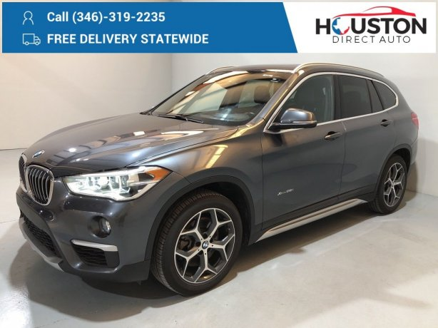 Used 2017 BMW X1 for sale in Houston TX.  We Finance!